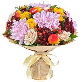 Букет из кремовых 70 см роз