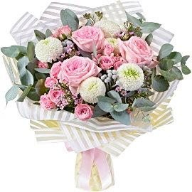 "Букет из Роза французская розовая ""Пинк Охара"""