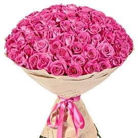 Букет из розовых 80 см роз