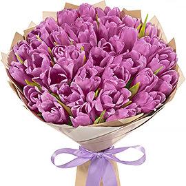 """Букет """"Фиолетовые Тюльпаны"""""""