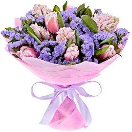 Букет из розовых гиацинтов