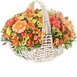 Букет из кремовых хризантем Сантини