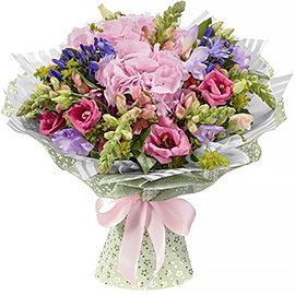 Букет из розовых антирринумов