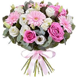 Букет из розовых мини гербер