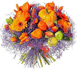Букет из оранжевых мини гербер