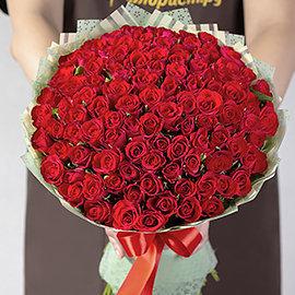 """Букет """"101 Рубиновая Роза"""""""