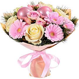 Букет из розовых гербер