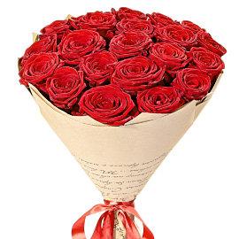 Букет из красных роз Ред Наоми 80 см