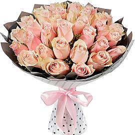 Букет из Роза розовая, 40 см