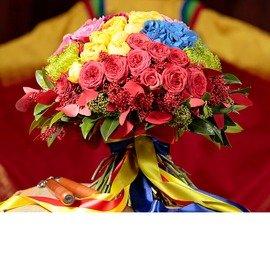 Букет из французских красных роз
