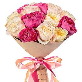 Букет из французских белых роз