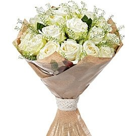 """Букет из Роза белая """"Аваланш"""", 80 см"""