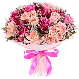 Букет из розовых 70 см роз