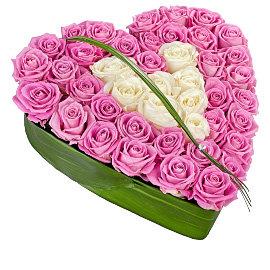 Букет из розовых роз Аква