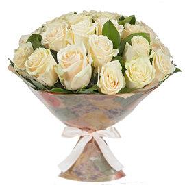 Букет из Роза кремовая, 60 см