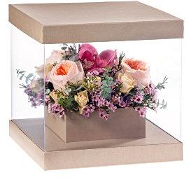 Букет из французских розовых роз
