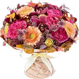 Букет из розовых астранций