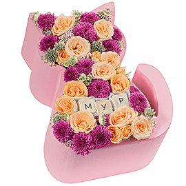 Букет из розовых хризантем Сантини