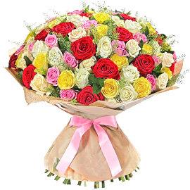 Букет из желтых 80 сантиметровых роз