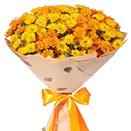 Букет из желтых хризантем Сантини