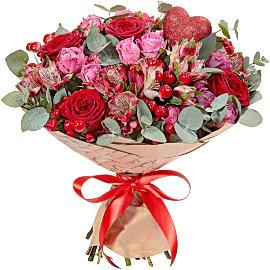 Букет из красных 70 см роз