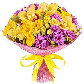 Букет из желтых орхидей Цимбидиум