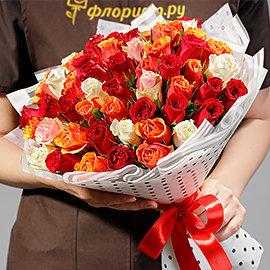 """Букет """"51 Красочная Роза"""""""