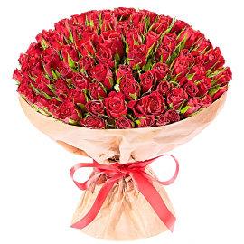 Букет из красных роз 40 см