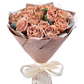 Букет из кофейных 50 см роз