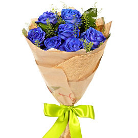 Букет из синих роз Венделла
