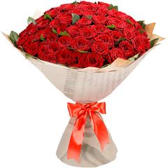 51 и 101 Красная Эквадорская Роза