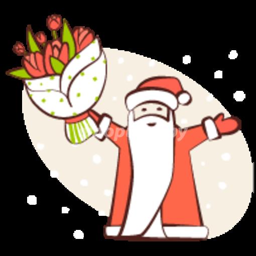 Доставка в костюме Деда Мороза