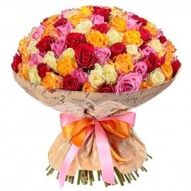Разноцветная Охапка Роз