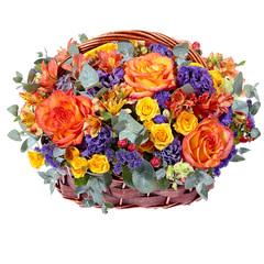 """Корзина """"Цветы на День Рождения"""""""