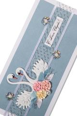 """<h4>Открытка ручной работы """"Свадебное Поздравление""""</h4><br/> <p>Открытка в нежной цветовой гамме с символом любви и верности - прекрасное дополнение к свадебному поздравлению.</p>"""