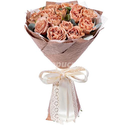 Букет из Кофейных Роз