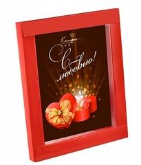 """<h4>Шоколадная открытка """"Сердце в подарок""""</h4><br/> <p>Шоколадная открытка """"Сердце в подарок"""" сделана из высококачественного горького фигурного шоколада. Рисунок также выполнен специальными шоколадными красками, что делает эту открытку очень аппетитной и вкусной. Размер такого подарка составляет 12 х 15 х 1 см, вес 100 гр. Подарите любимым сладкое настроение!</p>"""