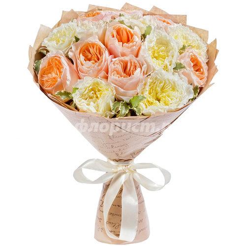 Дуэт Французских Пионовидных Роз