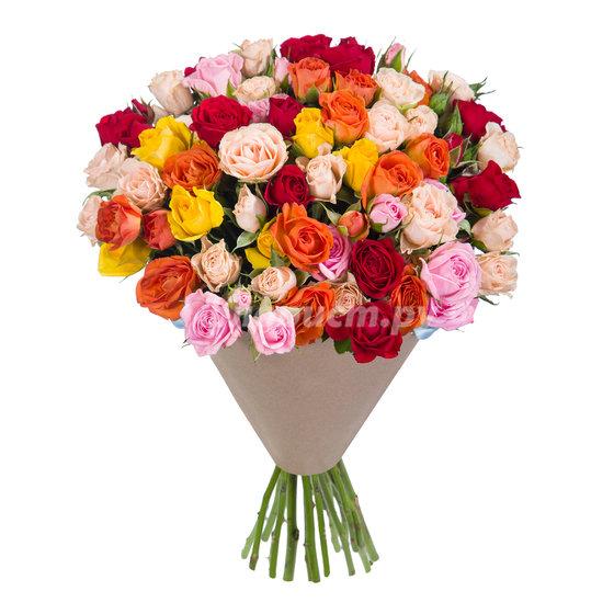 Кустовые Розы Микс