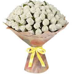 51 и 101 Белая Эквадорская Роза
