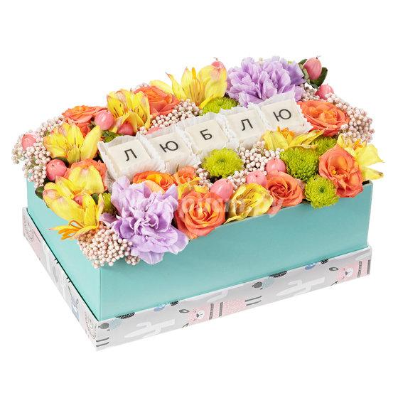 Коробка с Цветами и Шоколадом