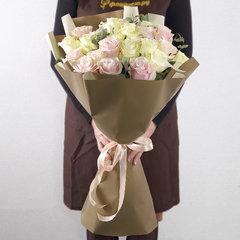Элитные Бело-Розовые Розы
