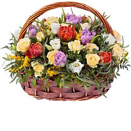 Корзина «Цветущая Красота»
