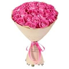 Wrapped Long-Stemmed Roses