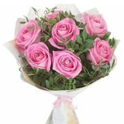 Букет «Розовое счастье»