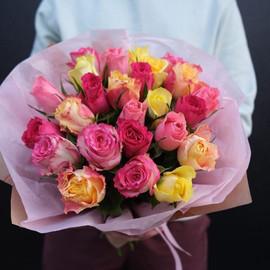 микс из 25 кенийских роз