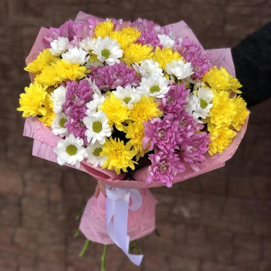 Букет хризантем «Сочный»