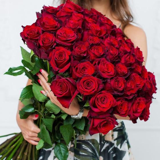 Красные крупные розы