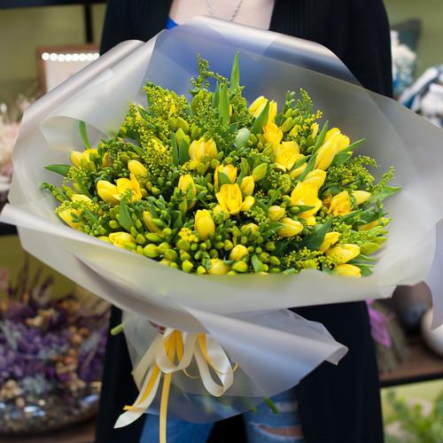 """Букет цветов """"Медовый лайт"""""""