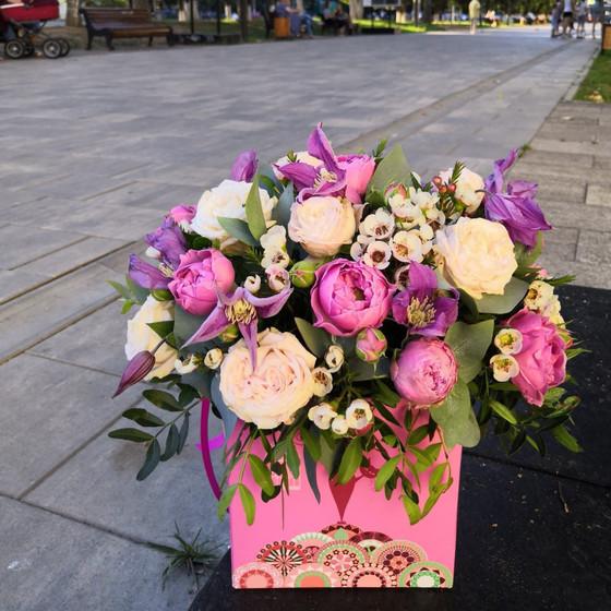 """коробочка с цветами """" Лето """""""